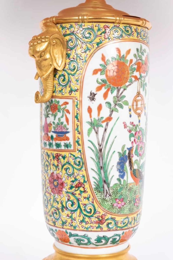 lampe porcelaine samson style canton