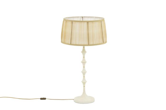lampe résine blanche laiton doré 1970's
