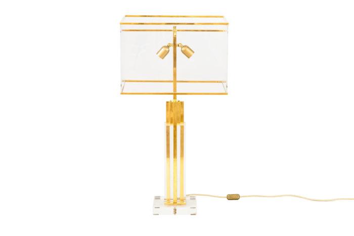lampe romeo rega lucite bronze doré