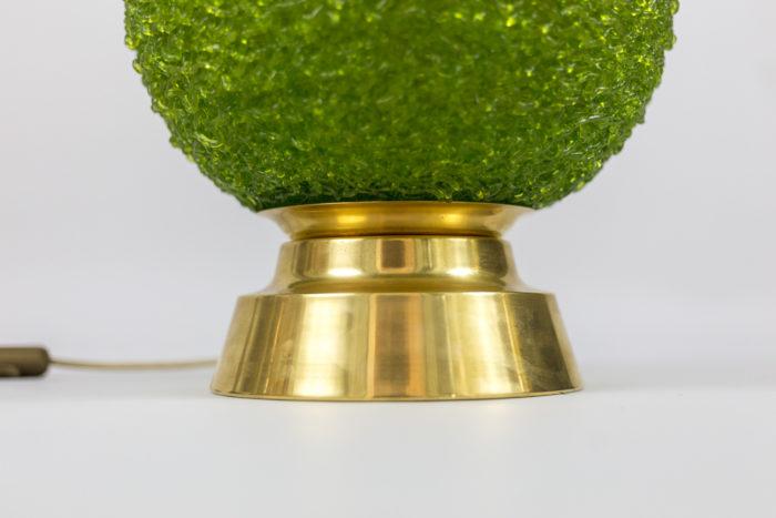lampes boule de buis base laiton doré