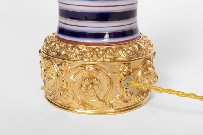 lampes bronze doré base