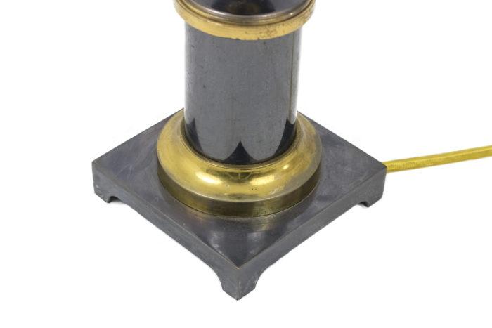 lampes gris et doré base carrée