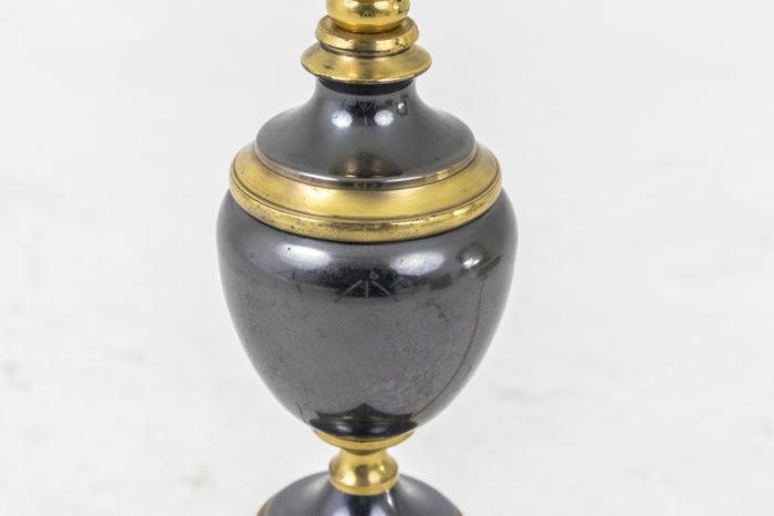 lampes gris métallique forme ovoïde