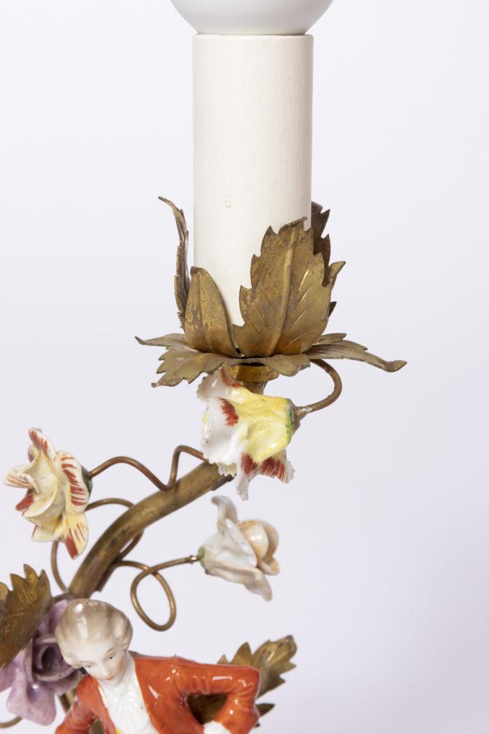 lampes laiton doré décor feuillages
