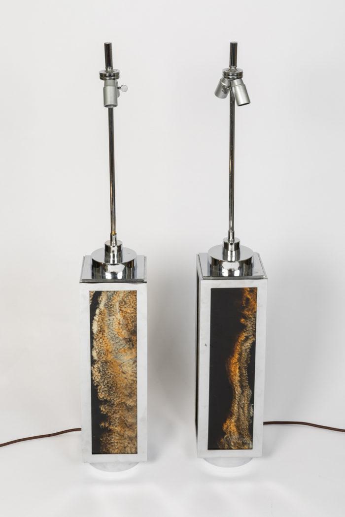 lampes métal chromé bakélite