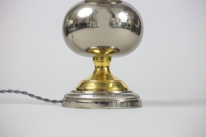 lampes métal chromé doré