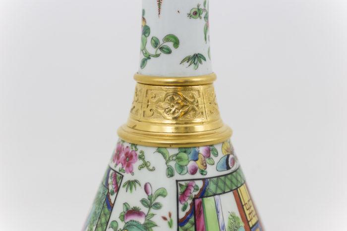 lampes porcelaine canton bague bronze doré