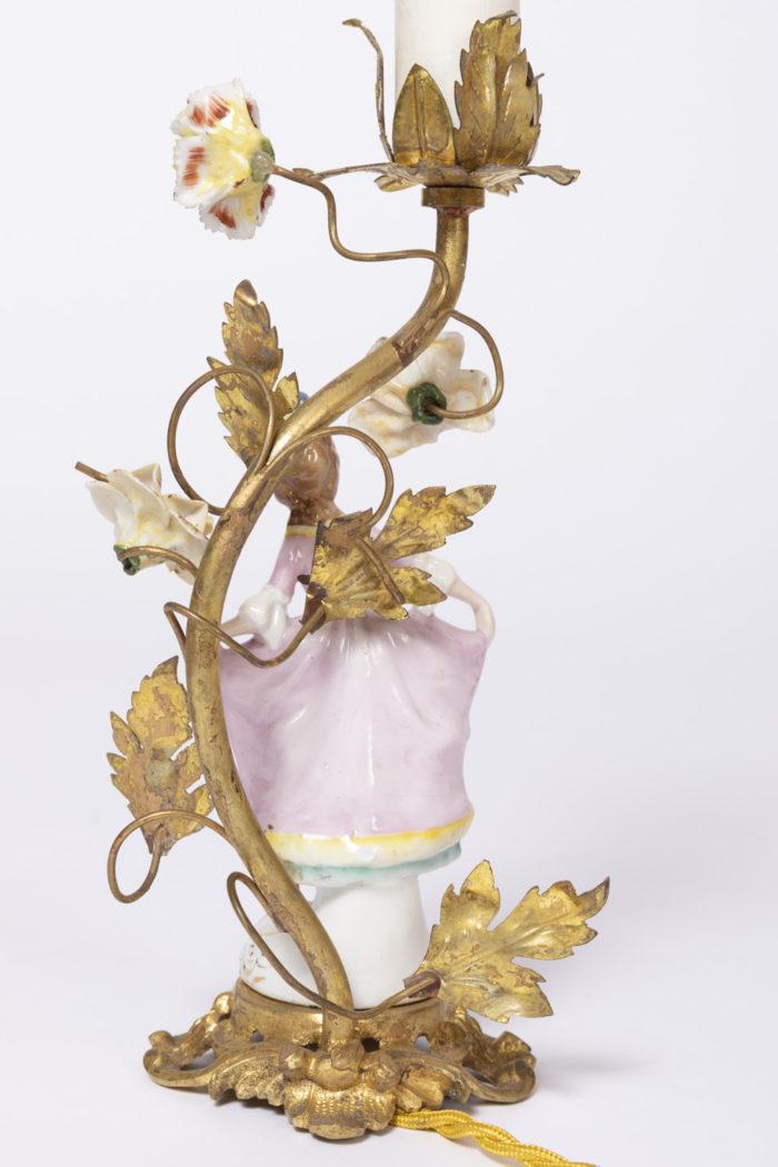 lampes porcelaine femme dos