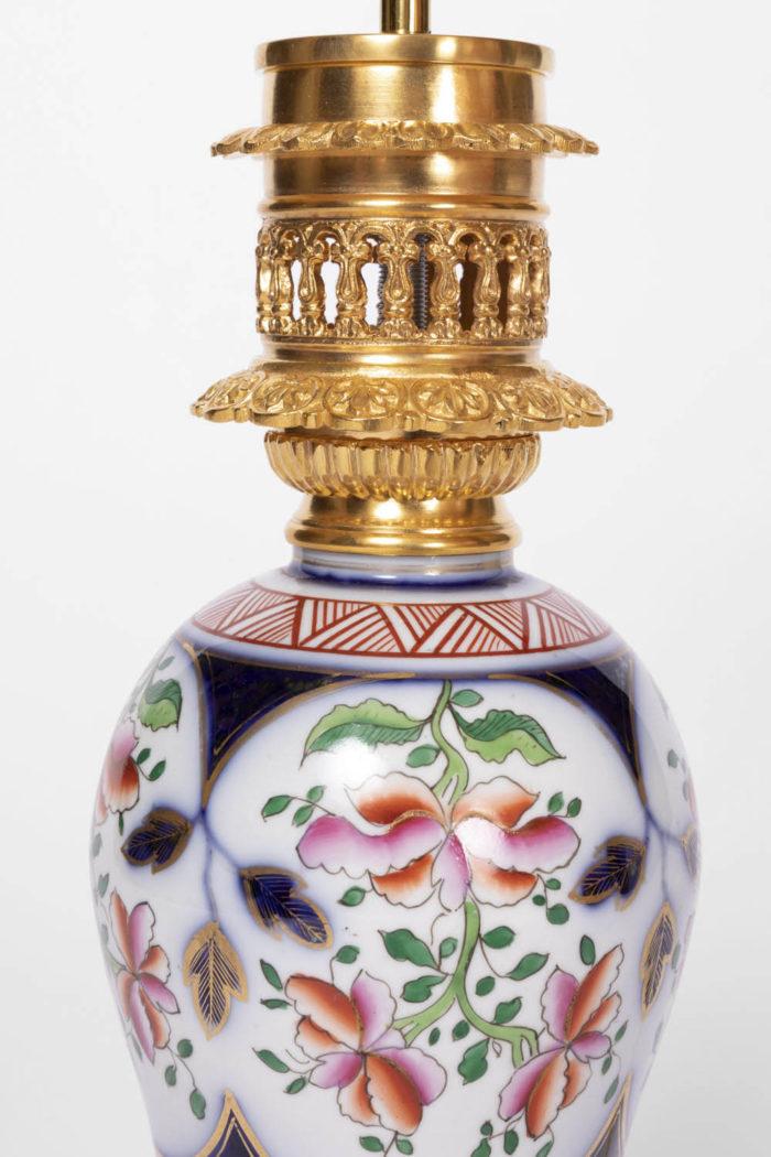 lampes porcelaine fleurs