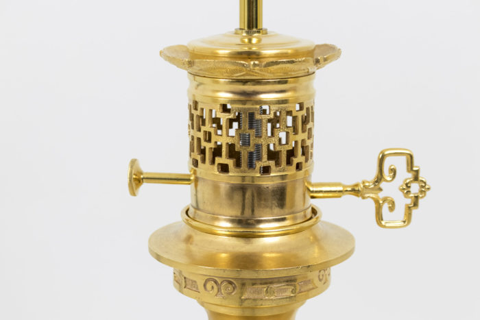 lampes porcelaine monture bronze doré
