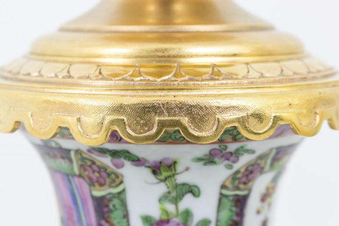 lampes porcelaine samson monture