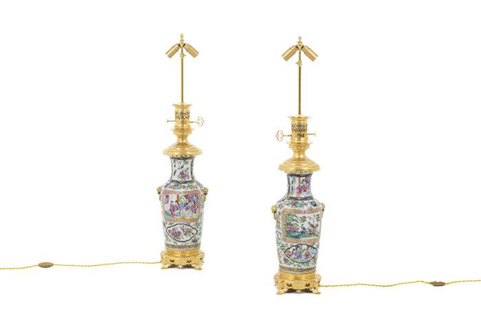 lampes porcelaine samson style canton