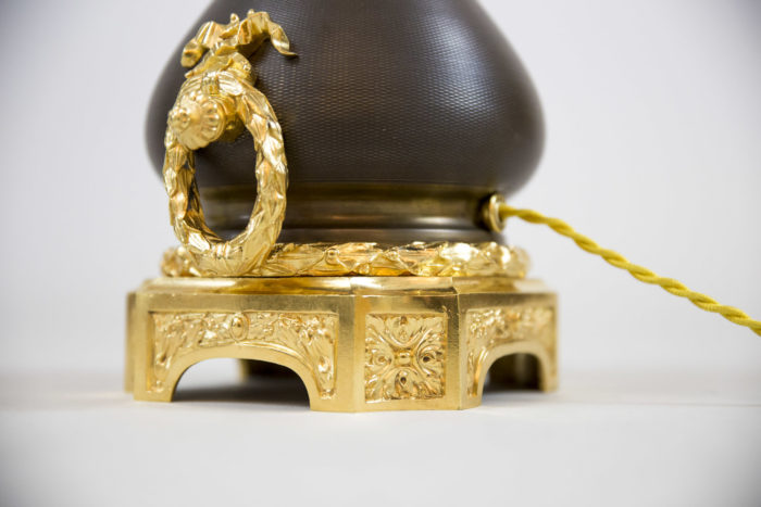 louis xvi style lamps gilt bronze base