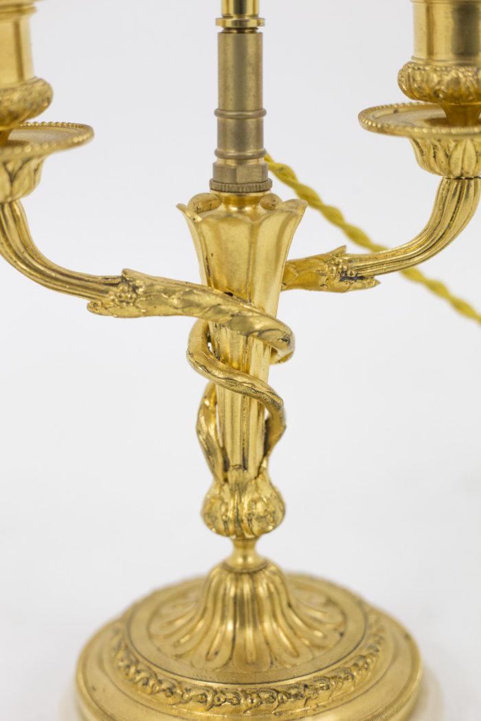 lampes style louis xvi fût enroulé