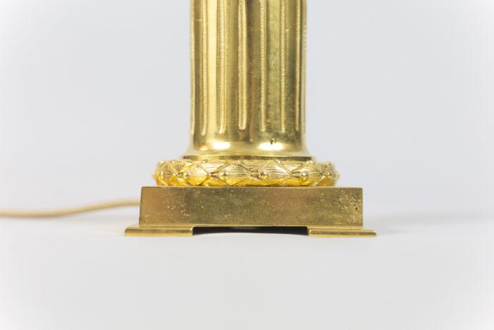 maison charles lampe oeuf d'autruche colonne cannelée