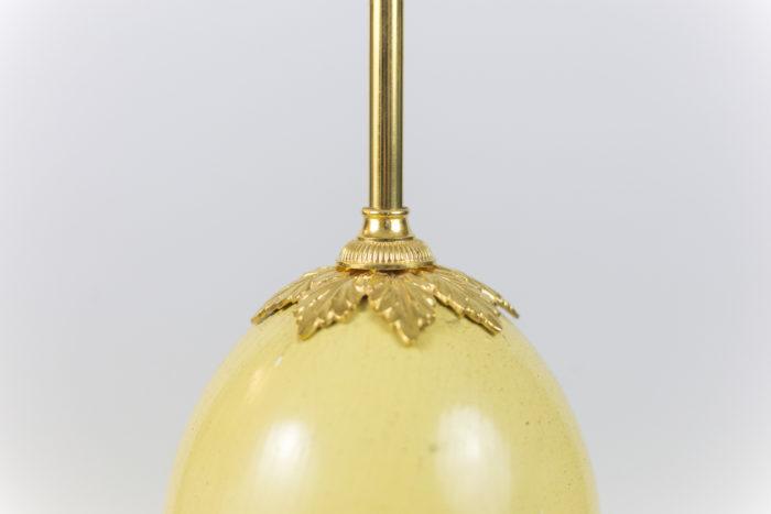 maison charles lampe oeuf d'autruche détail