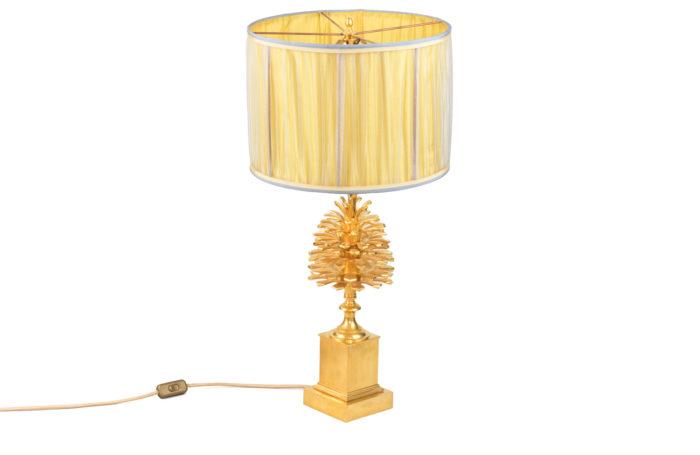 maison charles lampe pomme de pin bronze doré