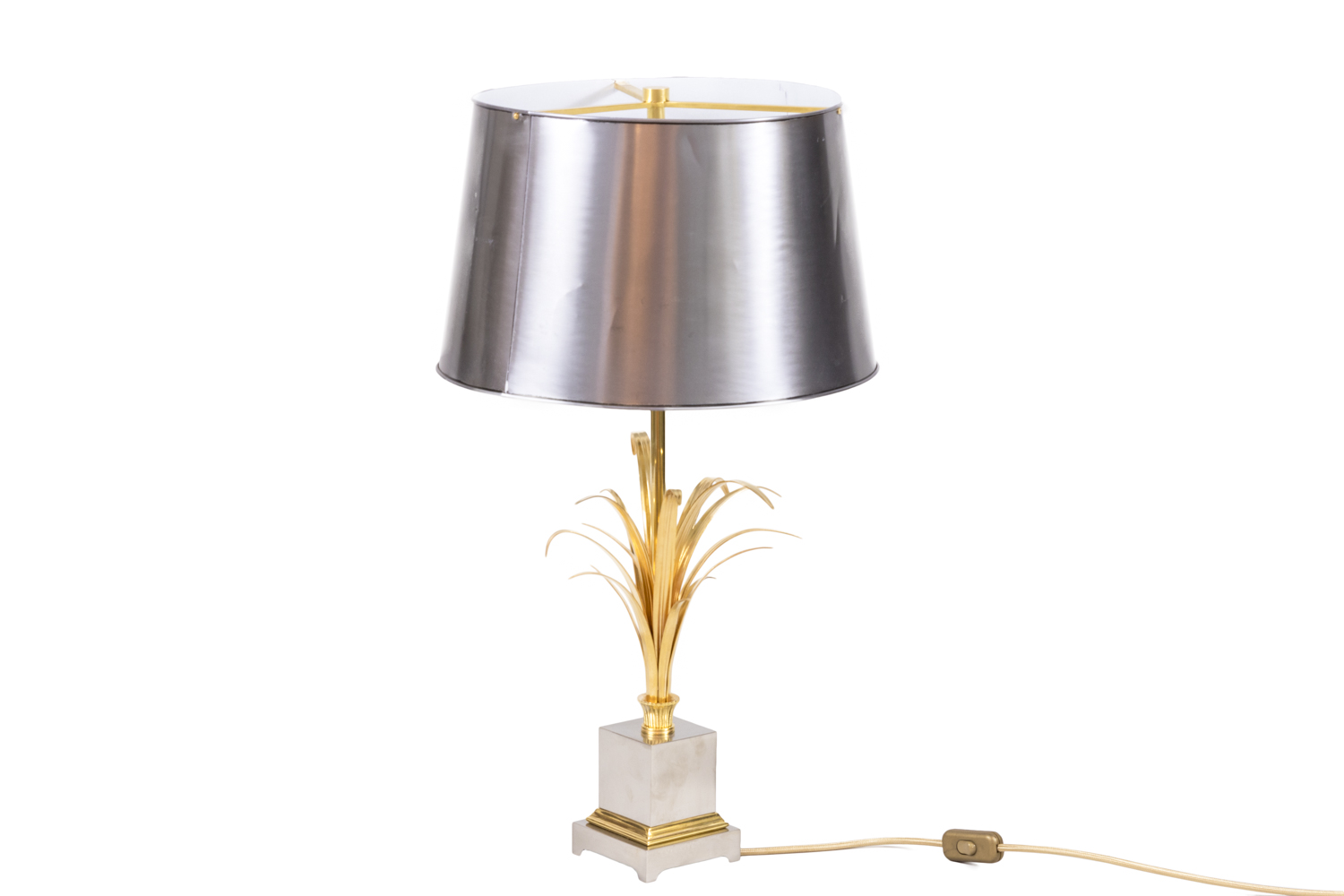 maison charles reeds lamp gilt and silvered bronze