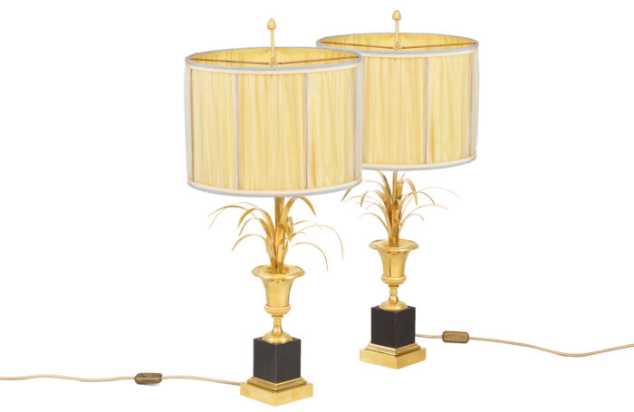 maison charles reeds lamps gilt bronze