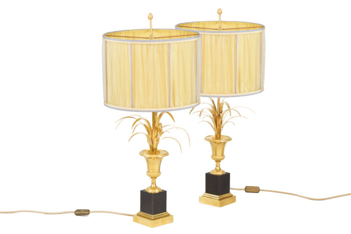 maison charles lampes roseaux bronze doré
