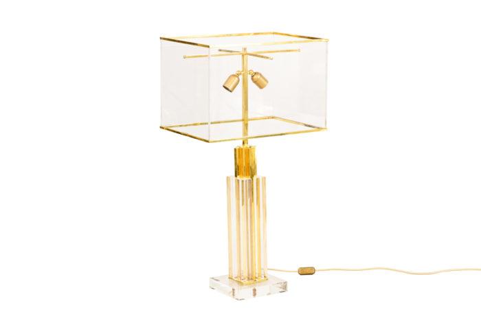romeo rega lampe lucite bronze doré