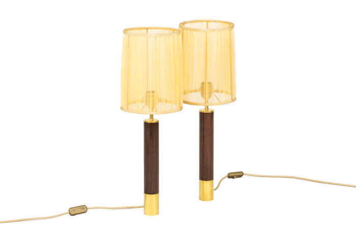 santa & cole lamps basica rosewood gilt brass