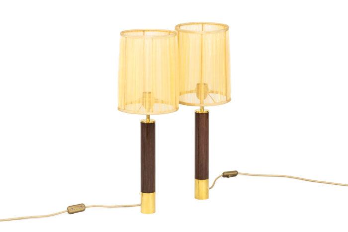 santa & cole lamps basica rosewood gilt brass