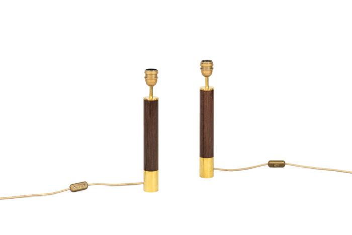 santa & cole lamps rosewood gilt brass