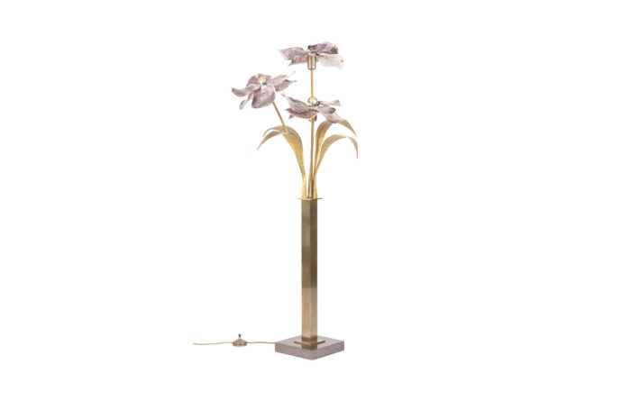 willy daro lamp mother of pearl gilt brass