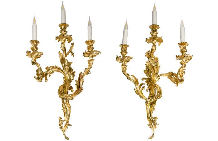 Appliques style Louis XV face