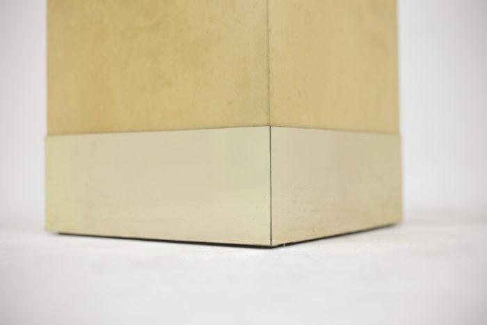 aldo tura sellette parchemin base laiton doré