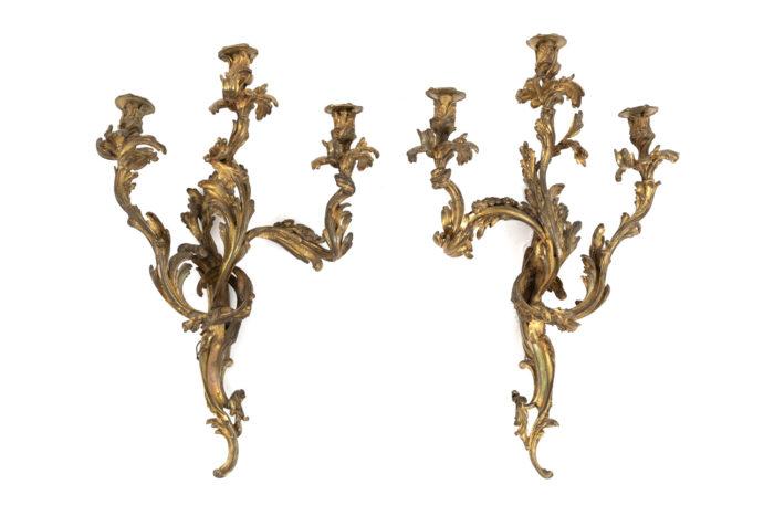 appliques style louis xv bronze doré