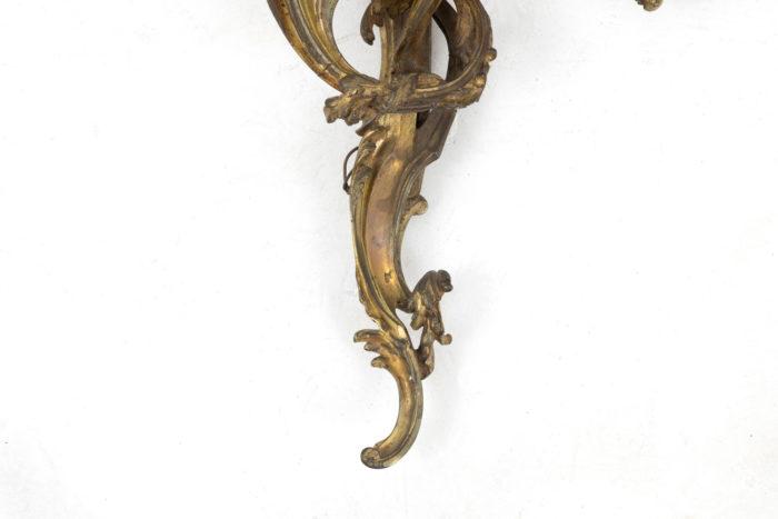 appliques style louis xv bronze doré bas