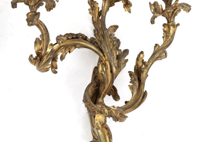 appliques style louis xv bronze doré bras