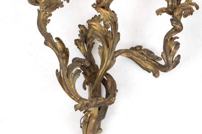 appliques style louis xv bronze doré détail