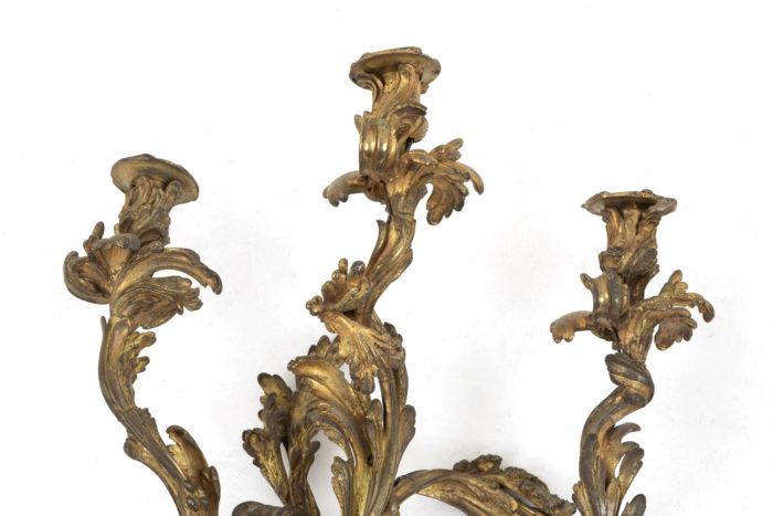 appliques style louis xv bronze doré feux