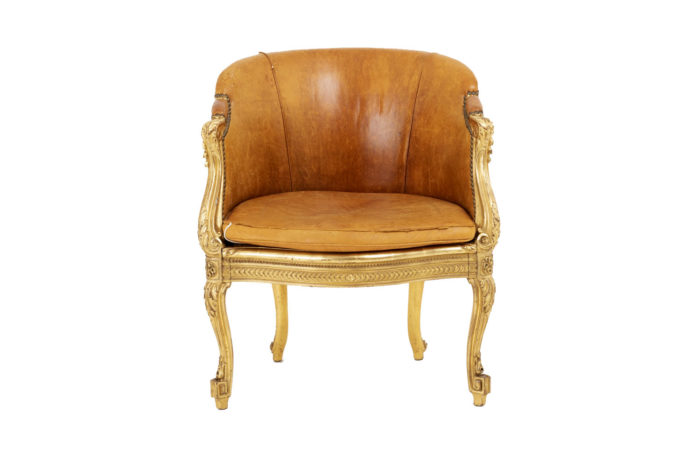 transition style bergere cane gilt wood