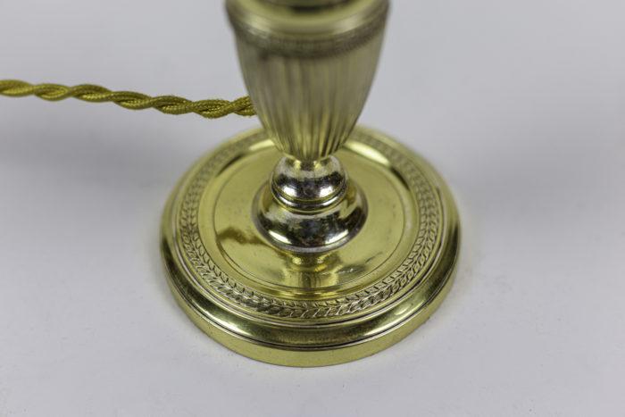 bougeoirs style empire métal doré base