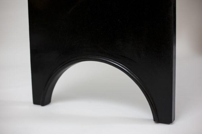 bureau bois laqué noir pieds