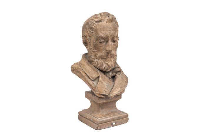 terracotta bust man bearded