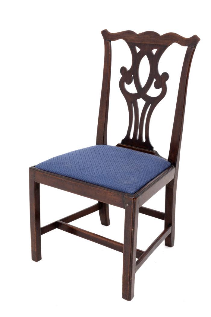 chaises chippendale acajou (2)