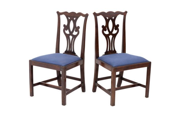 chaises chippendale acajou