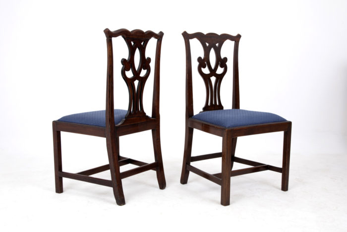 chaises chippendale dos