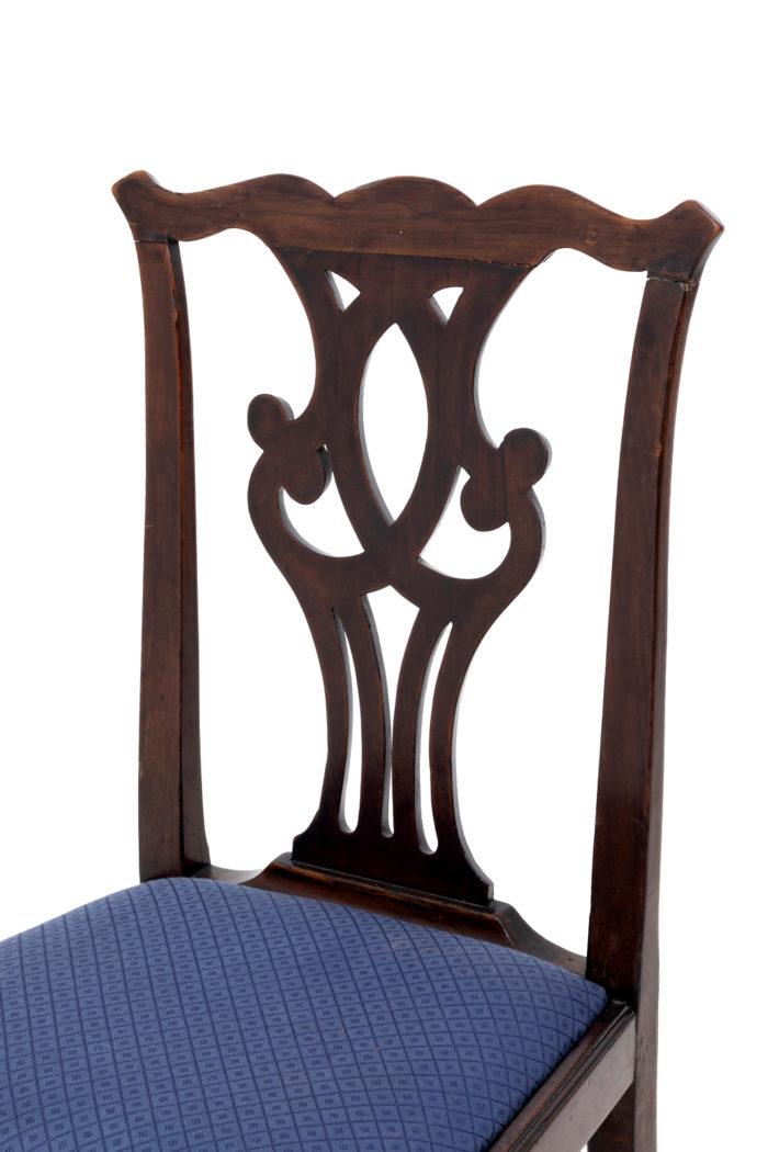 chaises chippendale dossier acajou ajouré