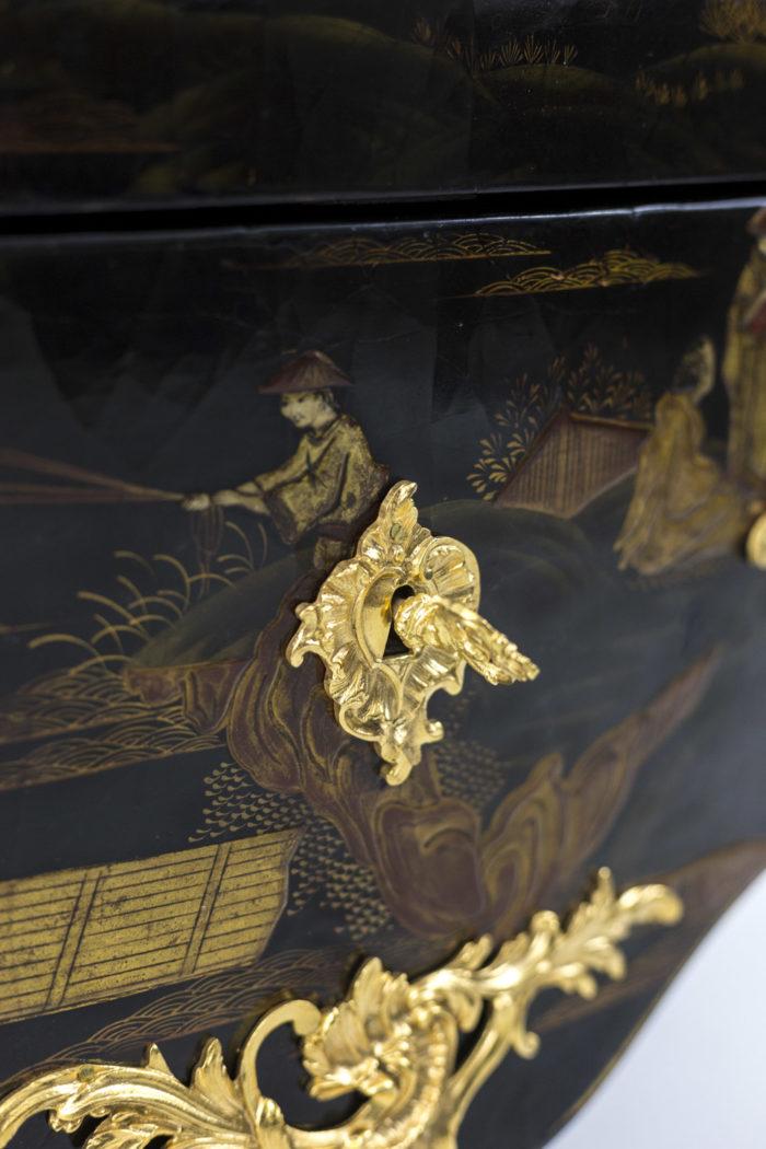 comelli commode style louis xv clé bronze doré