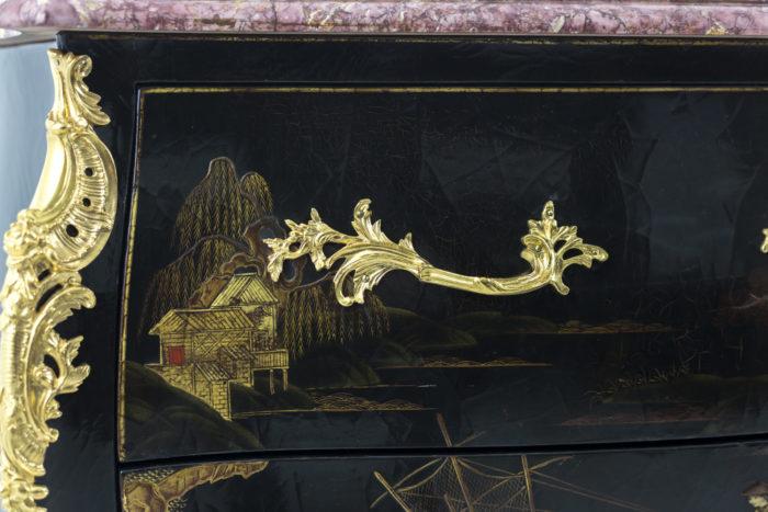 comelli commode style louis xv poignée bronze doré