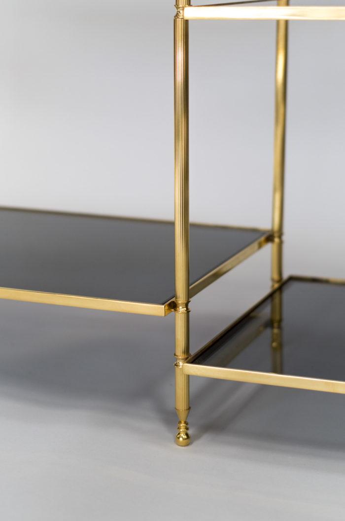 console basse laiton doré cannelé