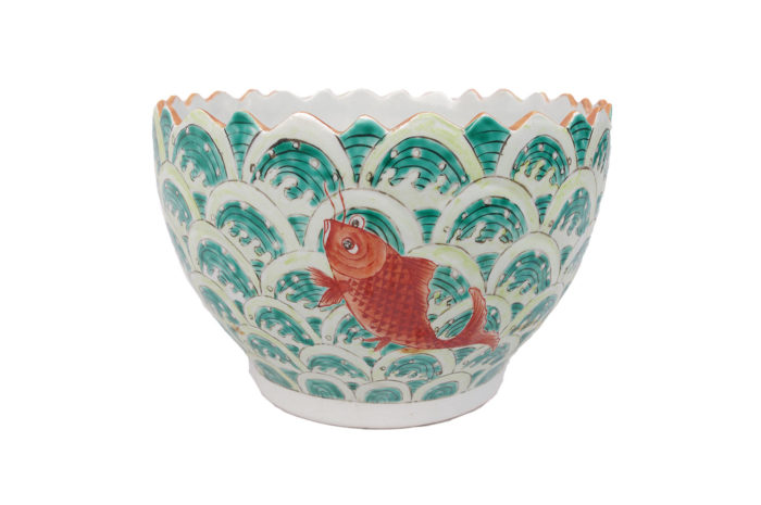 coupe porcelaine chinoise poissons