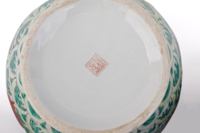 coupe porcelaine chinoise signature