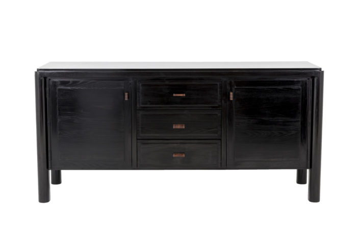 sideboard black lacquered elm 1950's